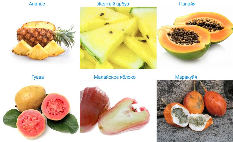 тропические фрукты бали